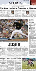 Slow news day in sportsland to run a Pirate as the centerpiece, but the All Star break will do that.